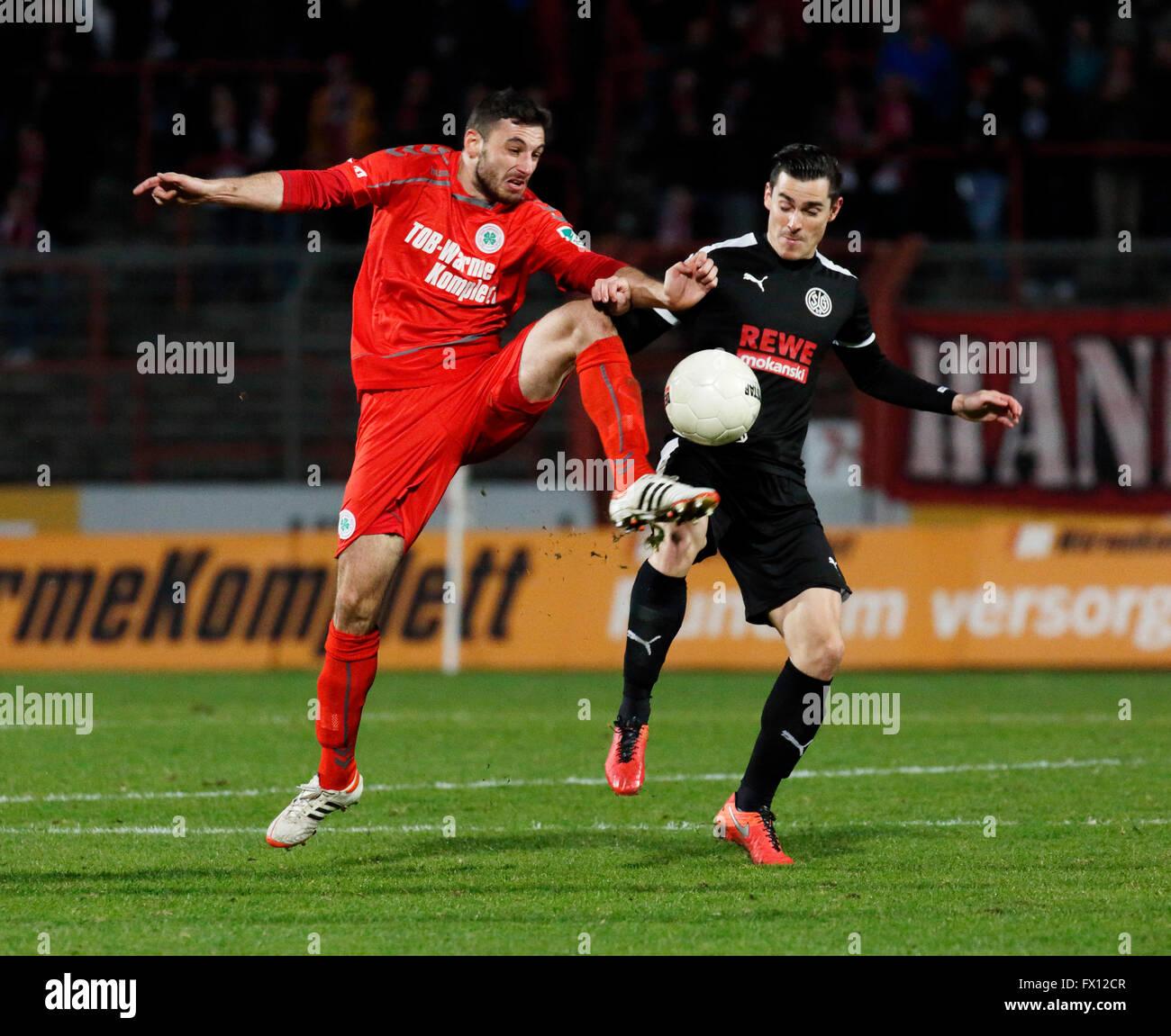 sports, football, Regional League West, 2015/2016, Rot Weiss Oberhausen versus SG Wattenscheid 09 0:0, Stadium Niederrhein - Stock Image