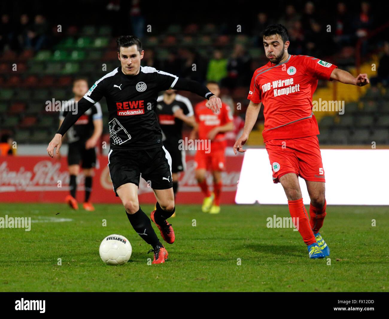 sports, football, Regional League West, 2015/2016, Rot Weiss Oberhausen versus SG Wattenscheid 09 0:0, Stadium Niederrhein Stock Photo