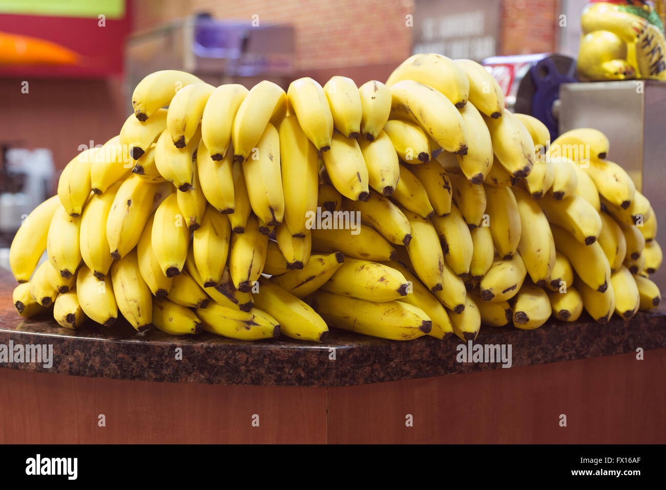 Bananas for sale at St Lawrence Market - Stock Image