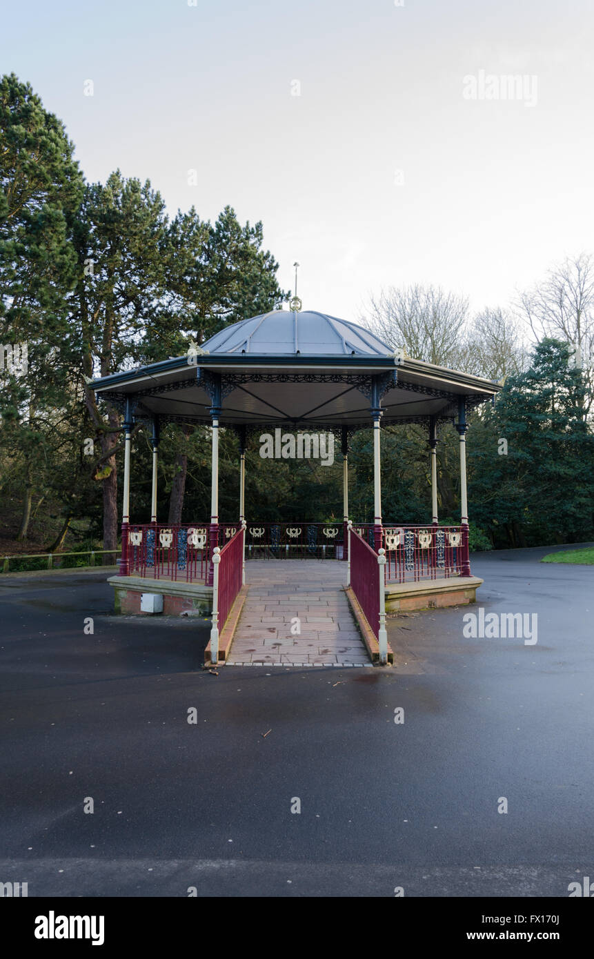 The Bandstand at Barnes Park, Sunderland, designed and built by  W. A. Baker and Son, Newport, Monmouthshire. - Stock Image