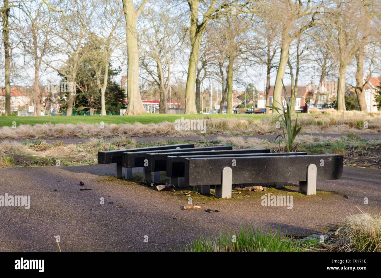 Large U0027Step Onu0027 Xylophone In U0027The Sensory Gardenu0027 At Barnes Park, Sunderland
