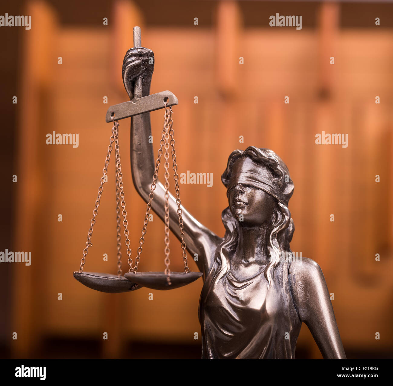 Statue of justice,law concept - Stock Image