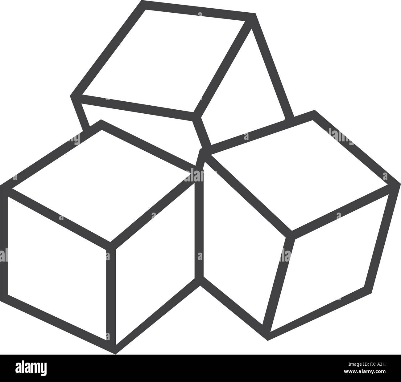 Sugar cubes icon Stock Vector Art & Illustration, Vector
