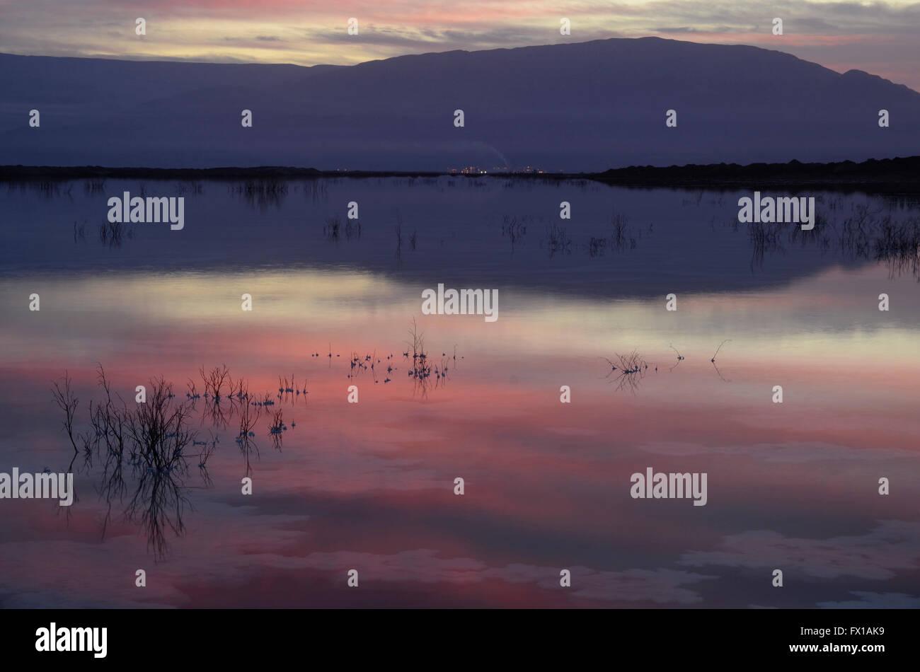 Israel, Dead Sea at dawn - Stock Image