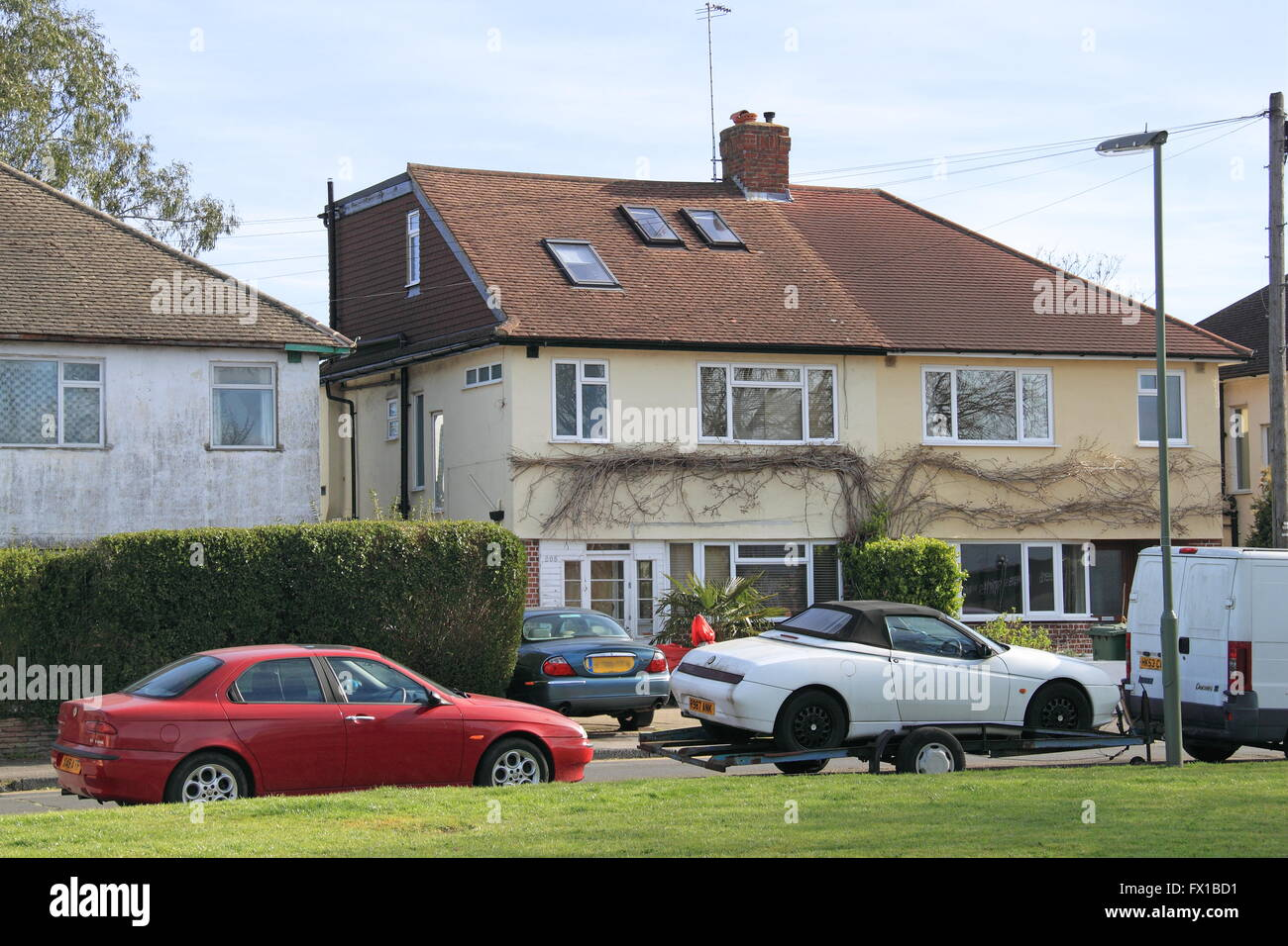 House where Robyn Mercer was found murdered, 18th March 2016, West Molesey, Surrey, England, Great Britain, United - Stock Image