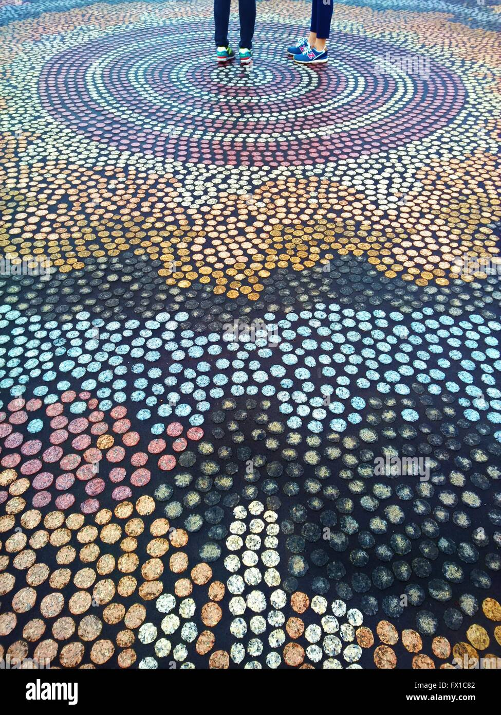 Tiles Outside the Parliament House, Canberra, Australia - Stock Image