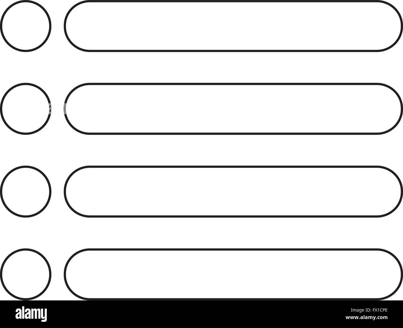 bulleted list icon sign stock vector art illustration vector