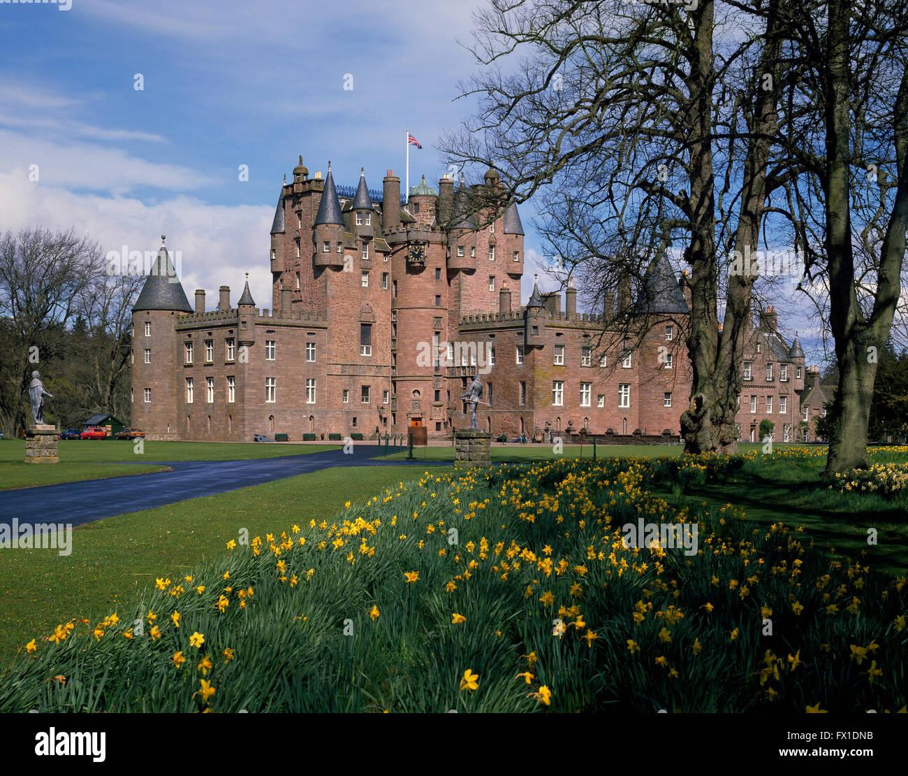 Glamis Castle Angus Scotland United Kingdom - Stock Image