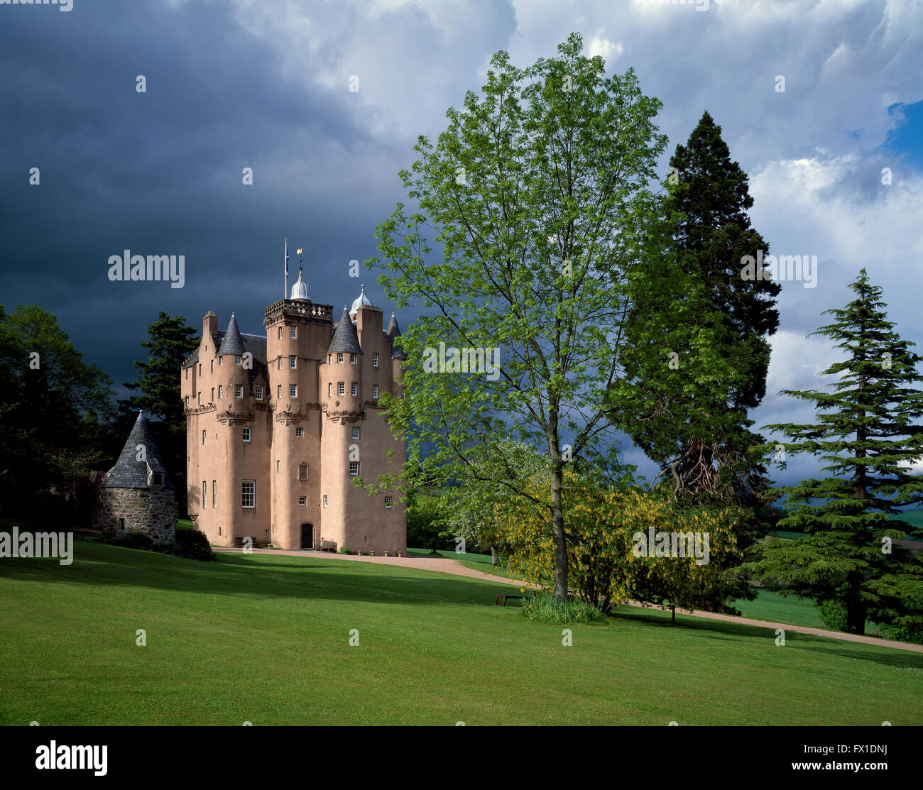 Craigievar Castle, Grampian Region, Scotland, United Kingdom - Stock Image