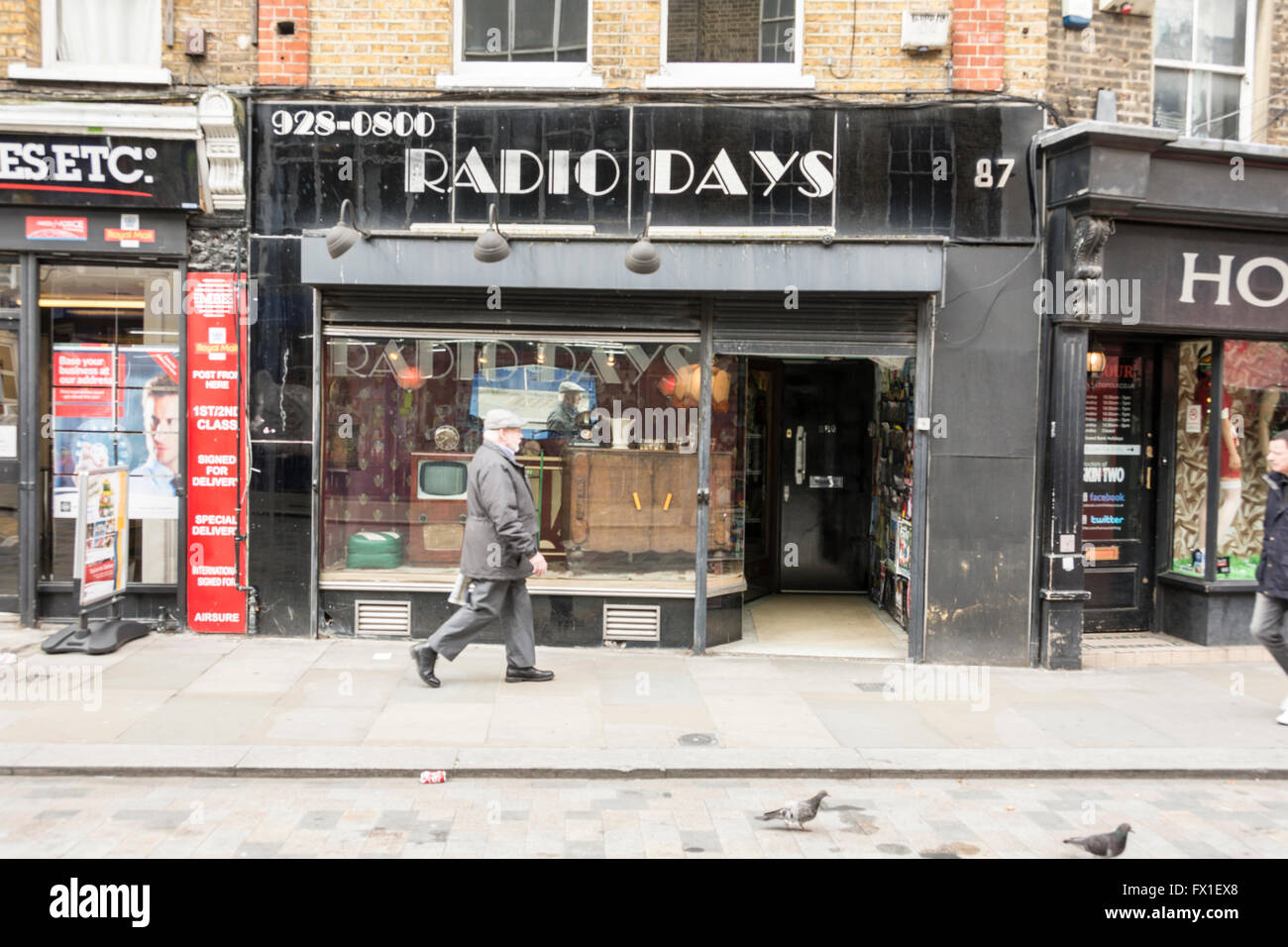 Radio Days on Lower Marsh, Waterloo, London, SE1, United Kingdom - Stock Image