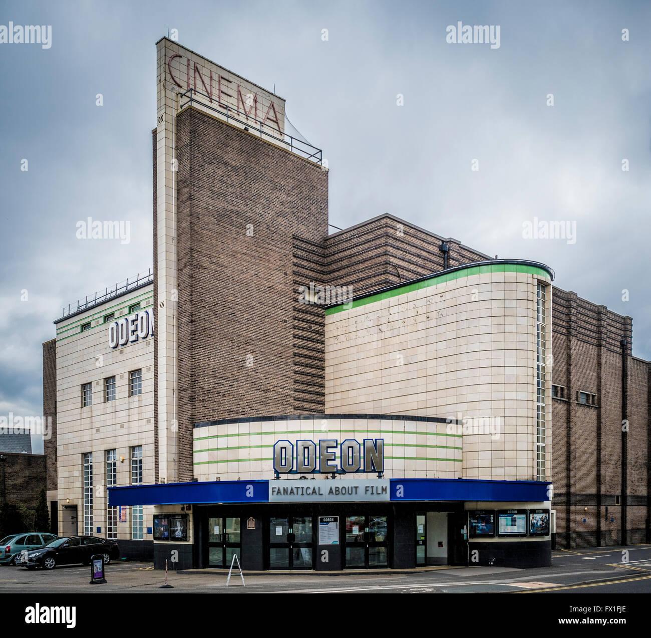 Art Deco Odeon Cinema building, Harrogate, North Yorkshire, UK. - Stock Image