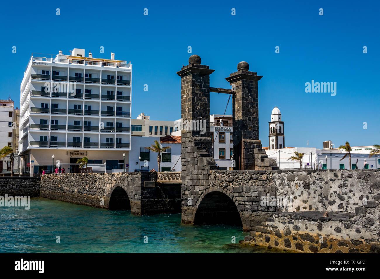 View of the Bridge of the Balls (Puente de las Bolas) in Arrecife, Lanzarote island, Spain Stock Photo