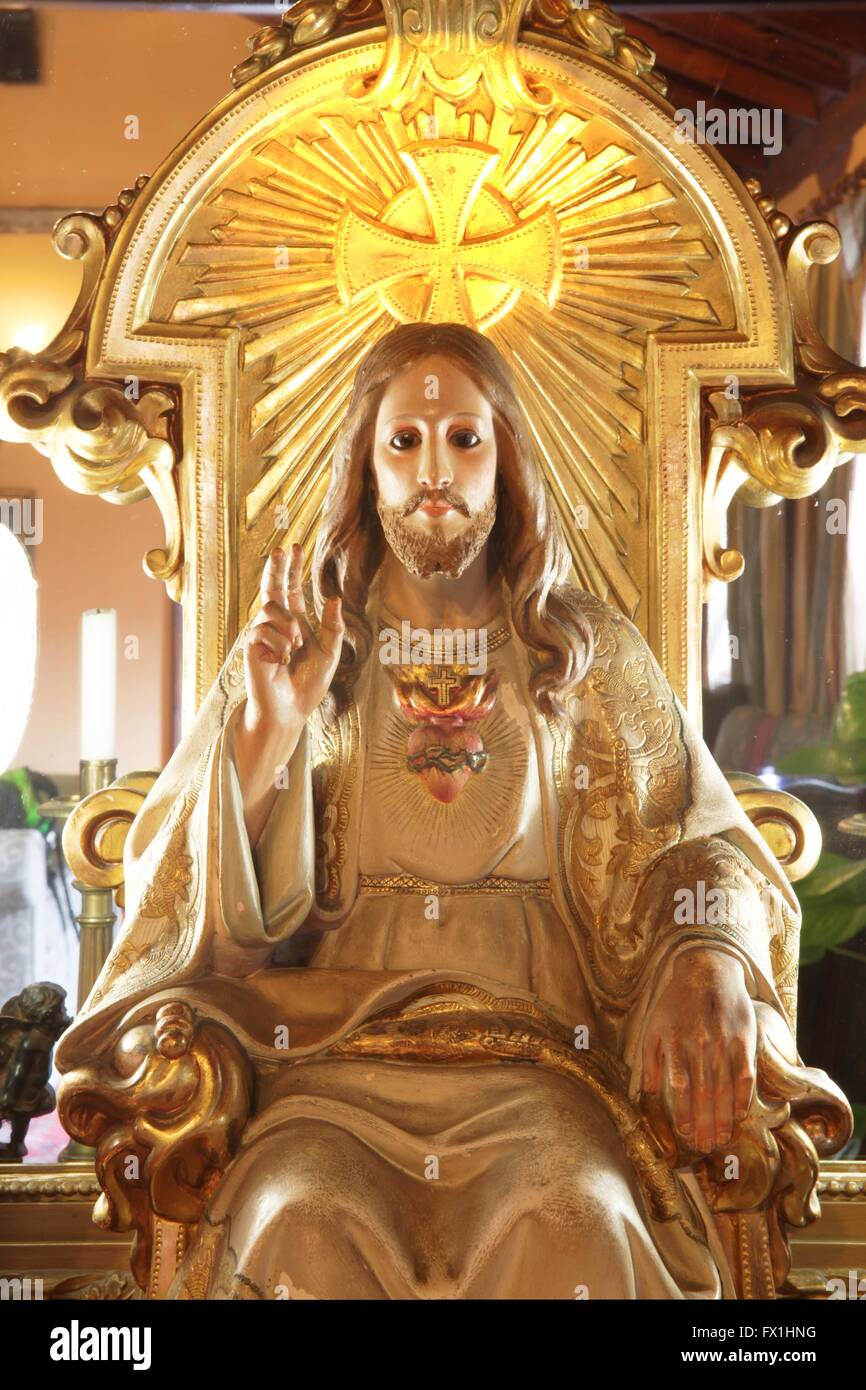 Jesus christ effigy sitting on a throne stock photo 102068780 alamy jesus christ effigy sitting on a throne altavistaventures