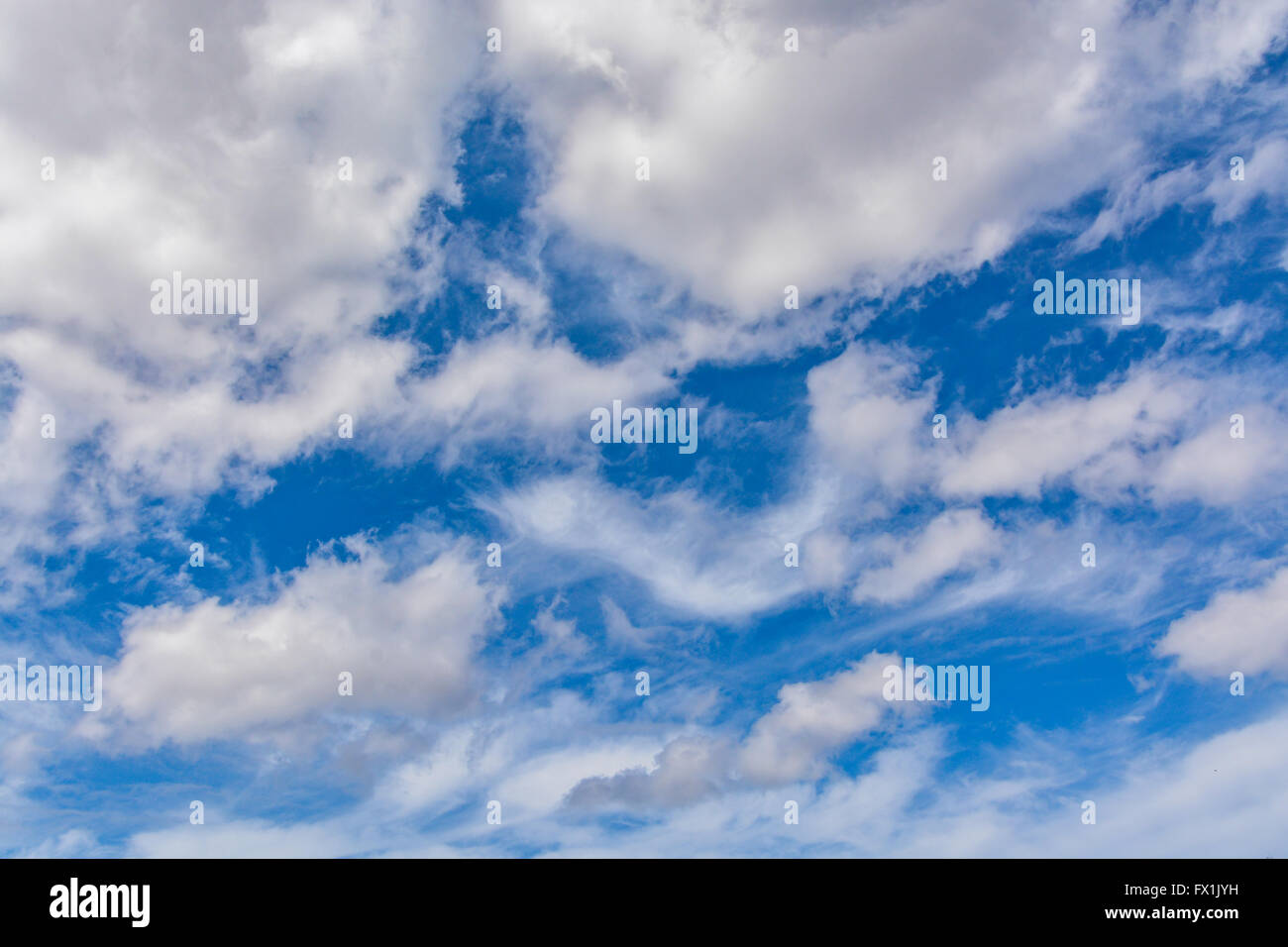 Amazing clouds at the sky - Stock Image