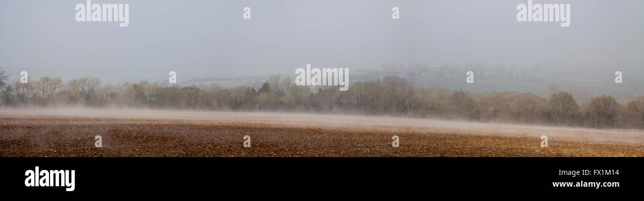 Panoramic of Heat Mist - Stock Image