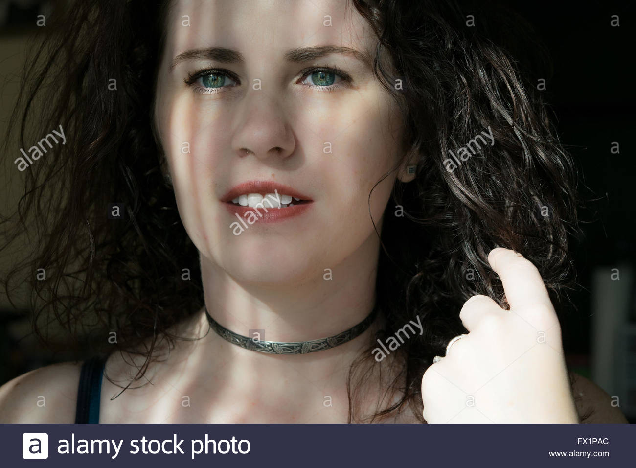 Woman waiting for her love - Stock Image
