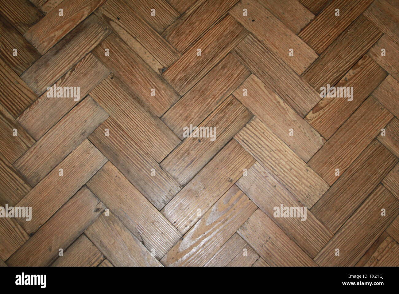 Very Old Wooden Parquet Floor Illustrating The Longevity Of Natural Flooring