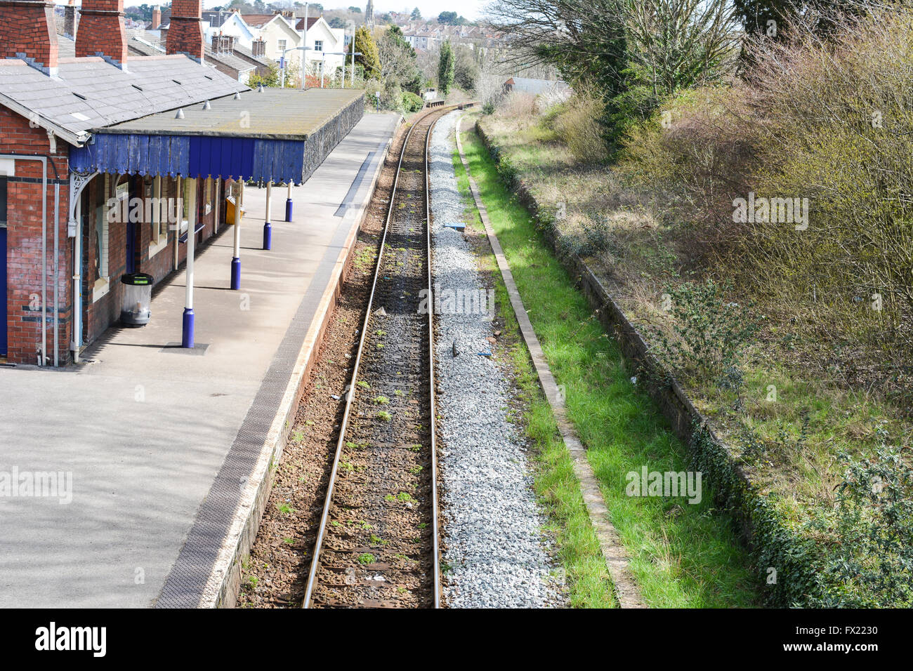 rail track and train station in Redland, Bristol - Stock Image