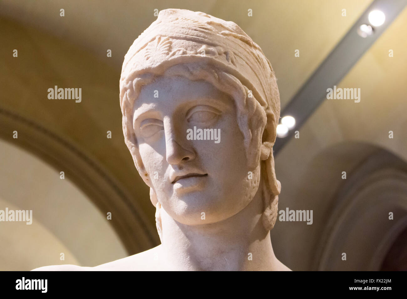 Ares Borghese, famous Roman marble statuefrom the Imperial Era, 1st or 2nd century AD. - Stock Image