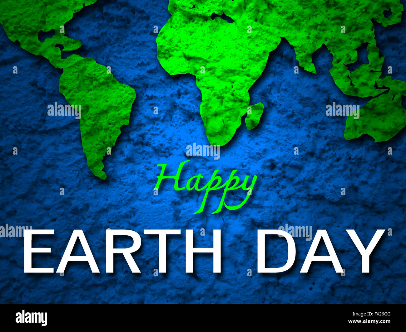 Happy earth day banner green earth map background stock photo happy earth day banner green earth map background gumiabroncs Images