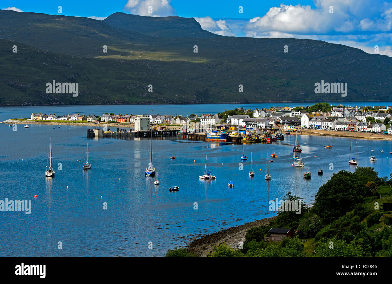 Ferry terminal, Ullapool, Ross-shire, Scotland, Great Britain - Stock Image