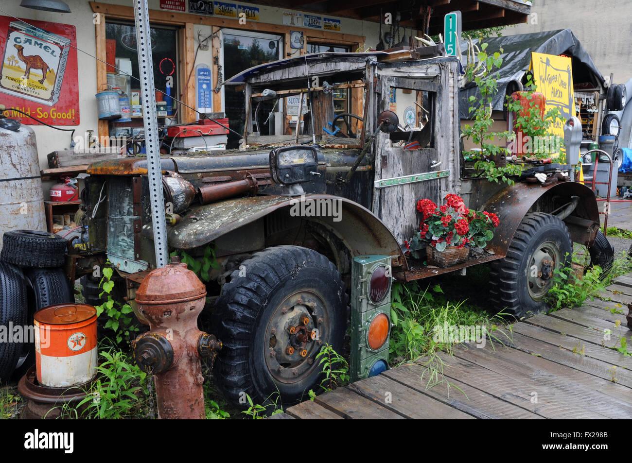 Alaska Scrap store - Stock Image