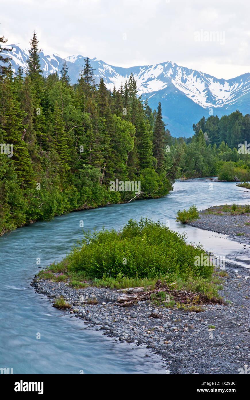 Girdwood area, Alyeska, Alaska, USA - Stock Image