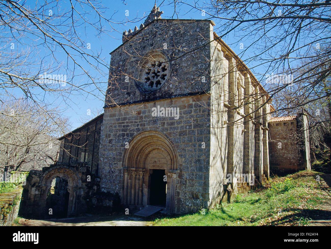 Monastery of Santa Cristina de Ribas de Sil. Ribeira Sacra, Orense province, Galicia, Spain. - Stock Image