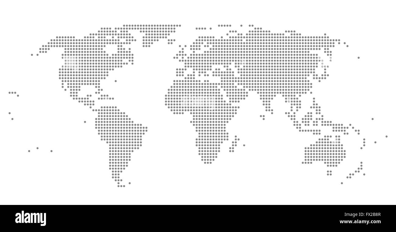 World map dots stock photos world map dots stock images alamy dots world map illustration stock image gumiabroncs Image collections