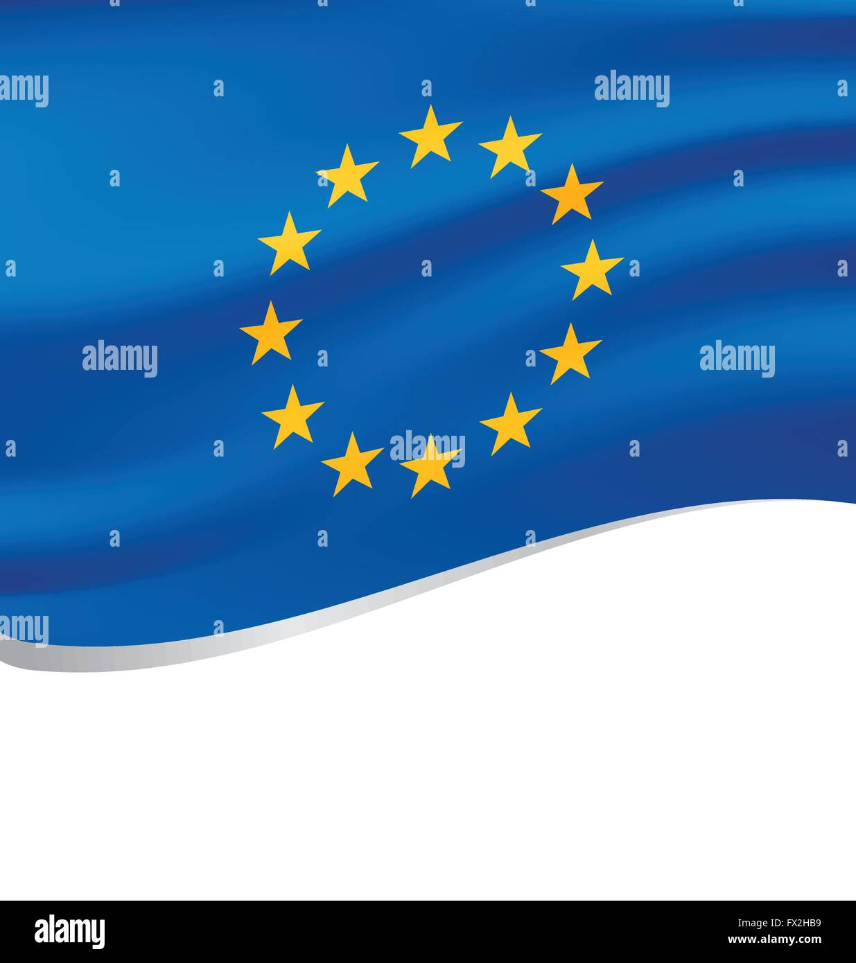 Waving flag of European solated on white background - Stock Vector