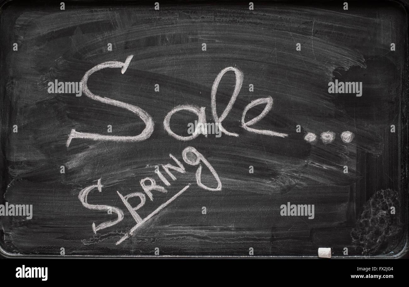 writing on the blackboard sale Stock Photo