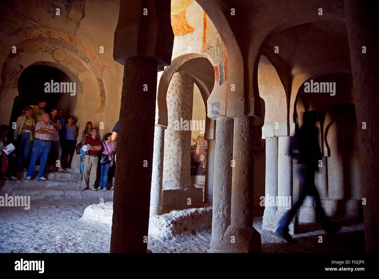 San Baudelio´s Mozarabic hermitage of Berlanga, Soria. Castile-Leon. Spain - Stock Image