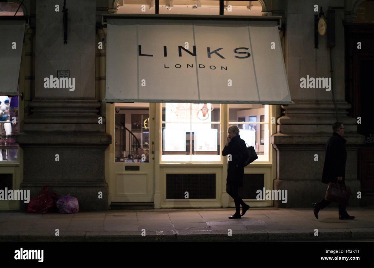 Links of London  jewellery shop - Stock Image