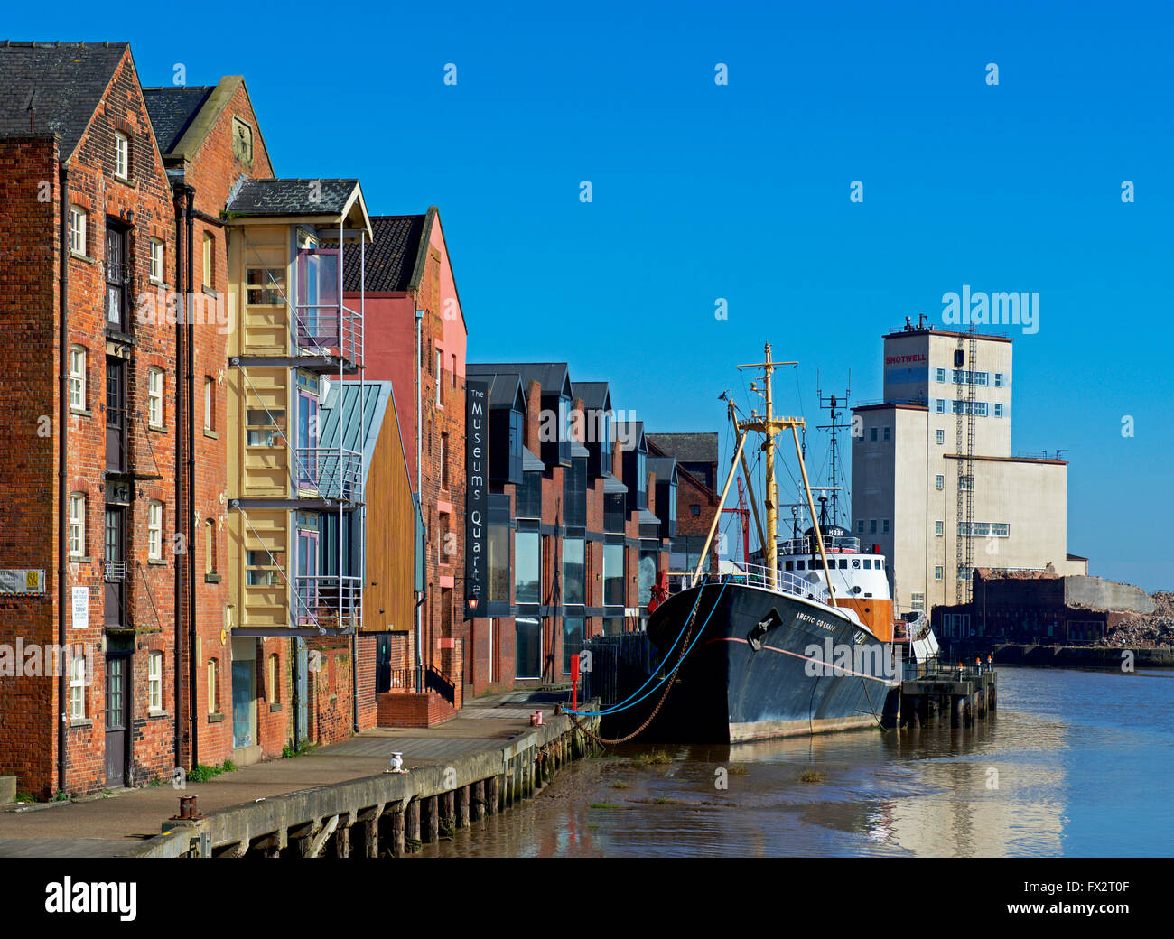 Trawler, the Arctic Corsair, moored on the River Hull, Hull, East Riding of Yorkshire, Humberside, England UK - Stock Image