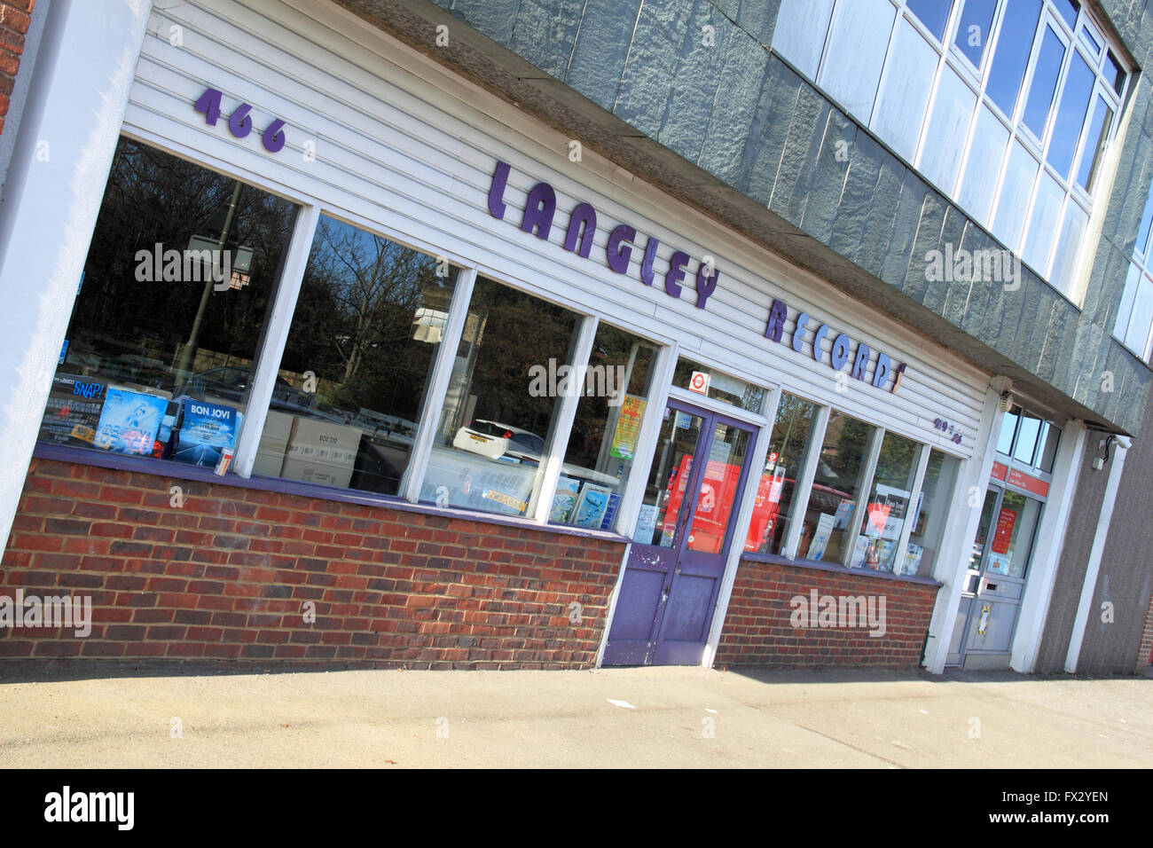 West Molesey, Surrey, England, UK. 10th April 2016. Langley Records is to close following approval of a Royal Mail - Stock Image