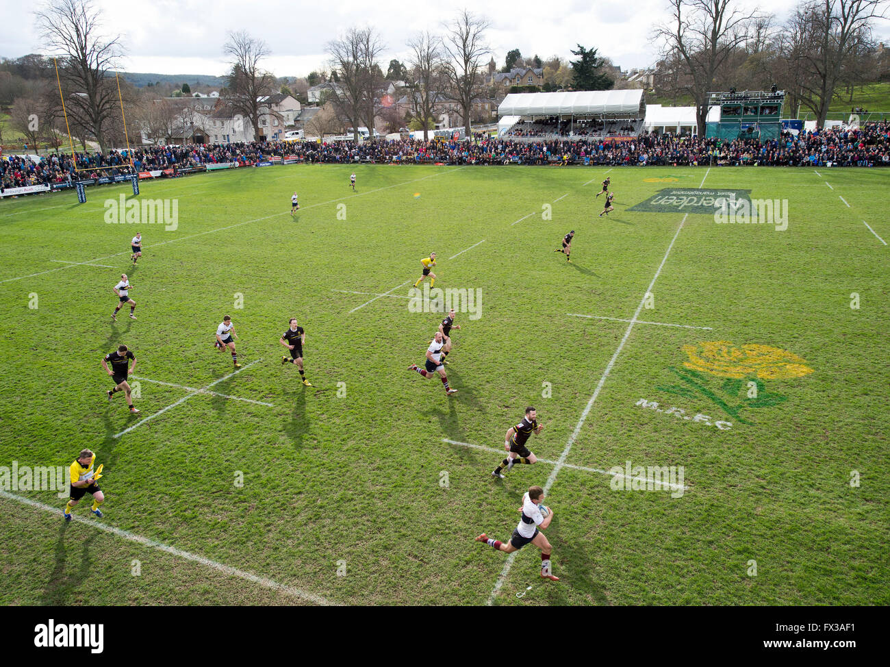 09/04/2016, The Melrose seven-a-side rugby union, football, tournament, the Greenyards, Melrose, Scotland. - Stock Image