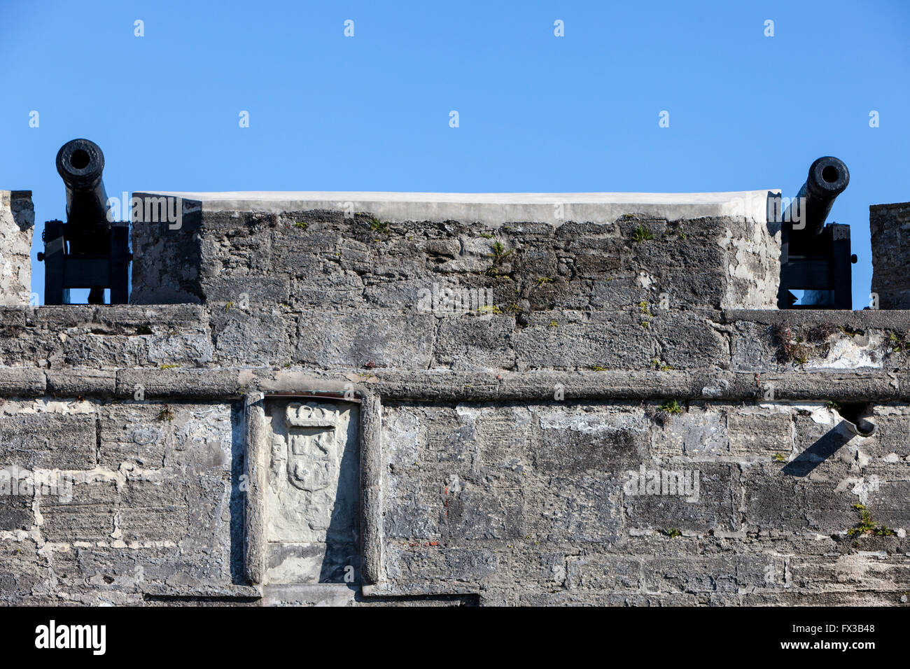St. Augustine, Florida, USA. Fort San Marcos, constructed 1672-1695 ...