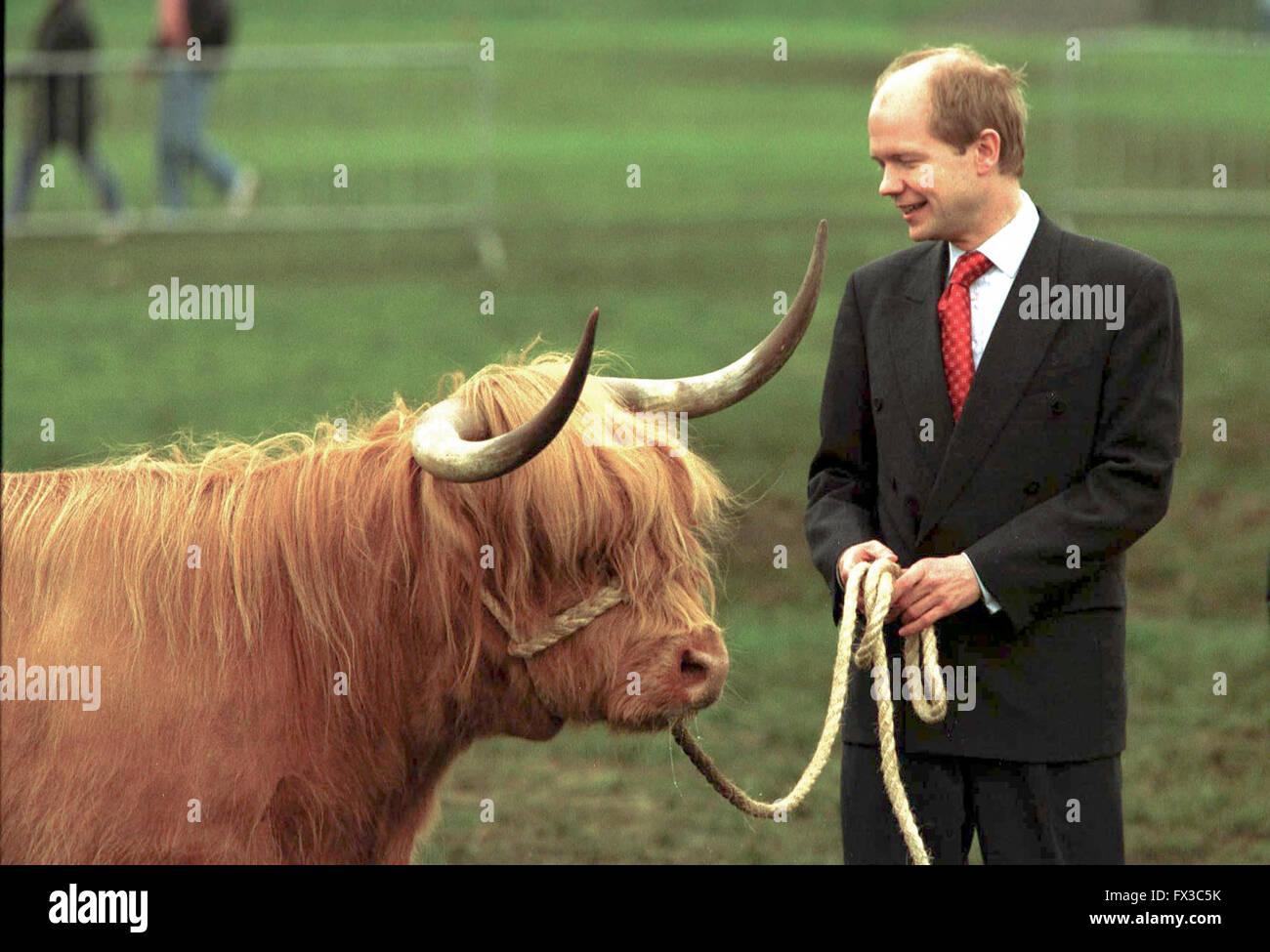 Tory leader William Haig visits the Royal Highland Show at Ingliston, Edinburgh - Stock Image