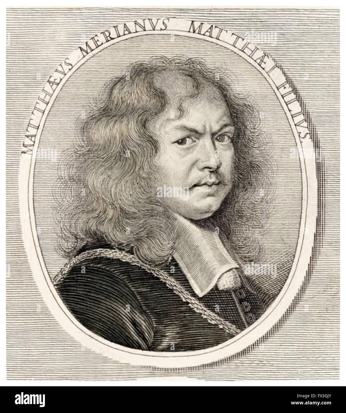 Matthäus Merian the Younger (1621-1687) Swiss engraver (engraving after Joachum von Sandrart). See description for Stock Photo