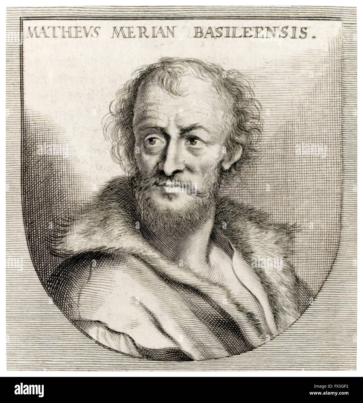 Matthäus Merian the Elder (1593-1650) Swiss engraver and cartographer (engraving after Joachum von Sandrart). An Stock Photo