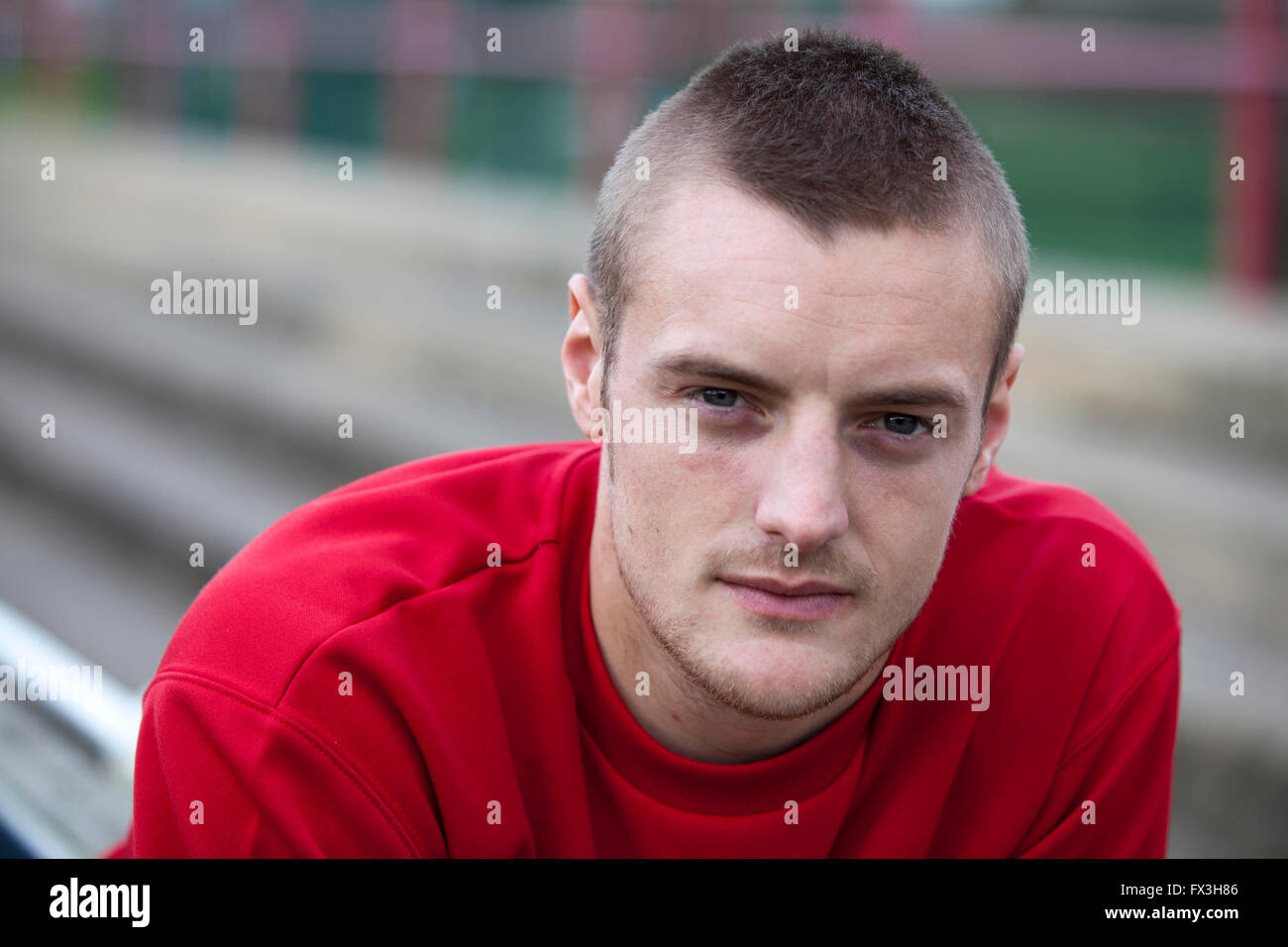 28/11/11  England football star Jamie Vardy pictured in 2011 when he was playing for  Fleetwood FC - Stock Image