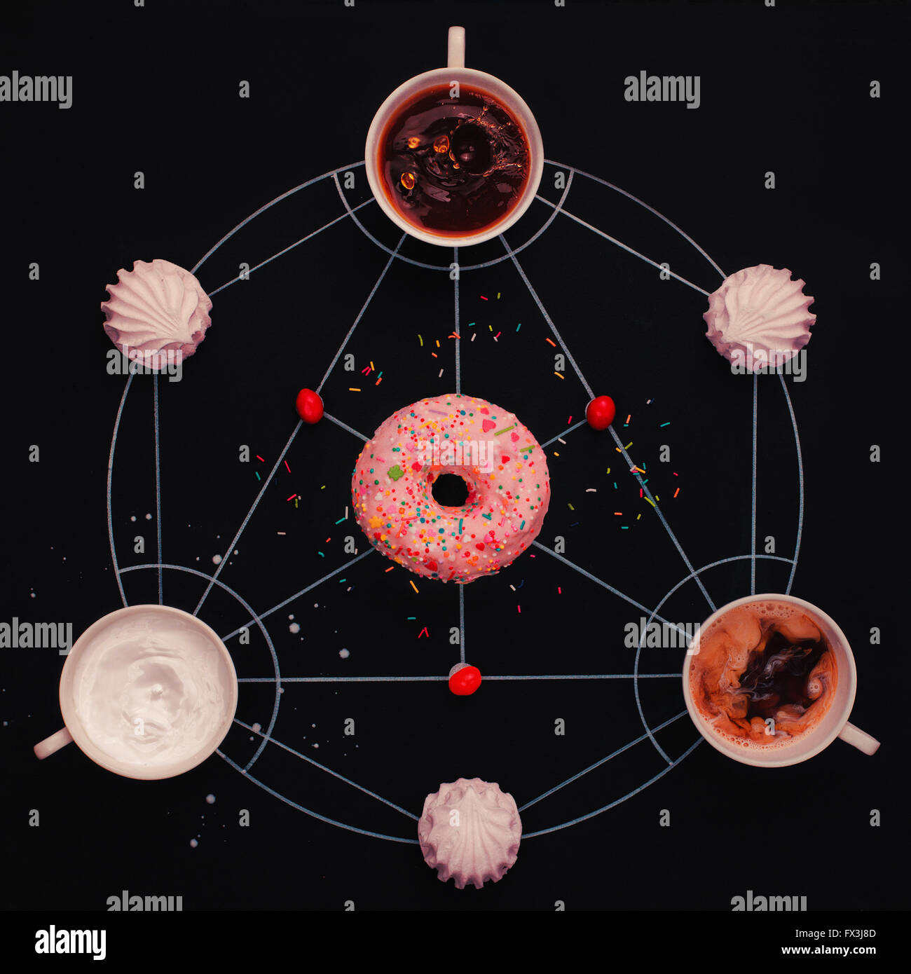 Sweet alchemy of cookies - Stock Image