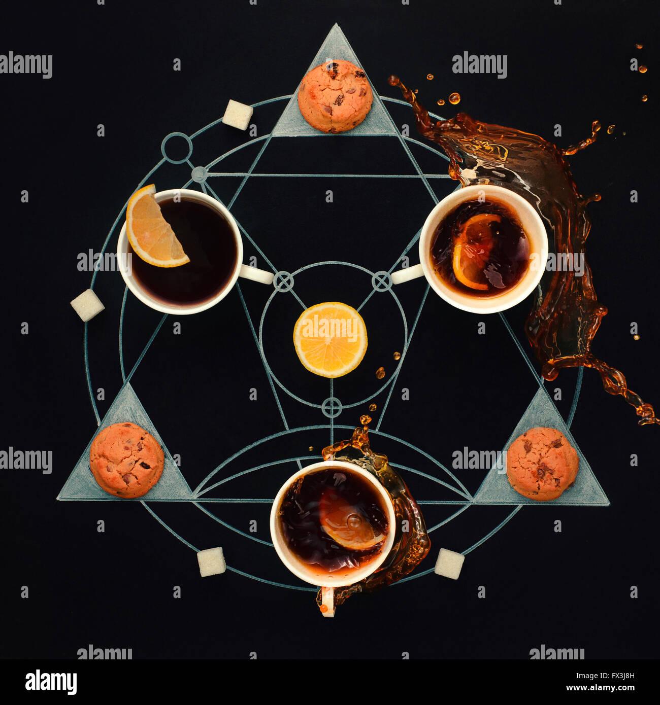 Teatime alchemy - Stock Image