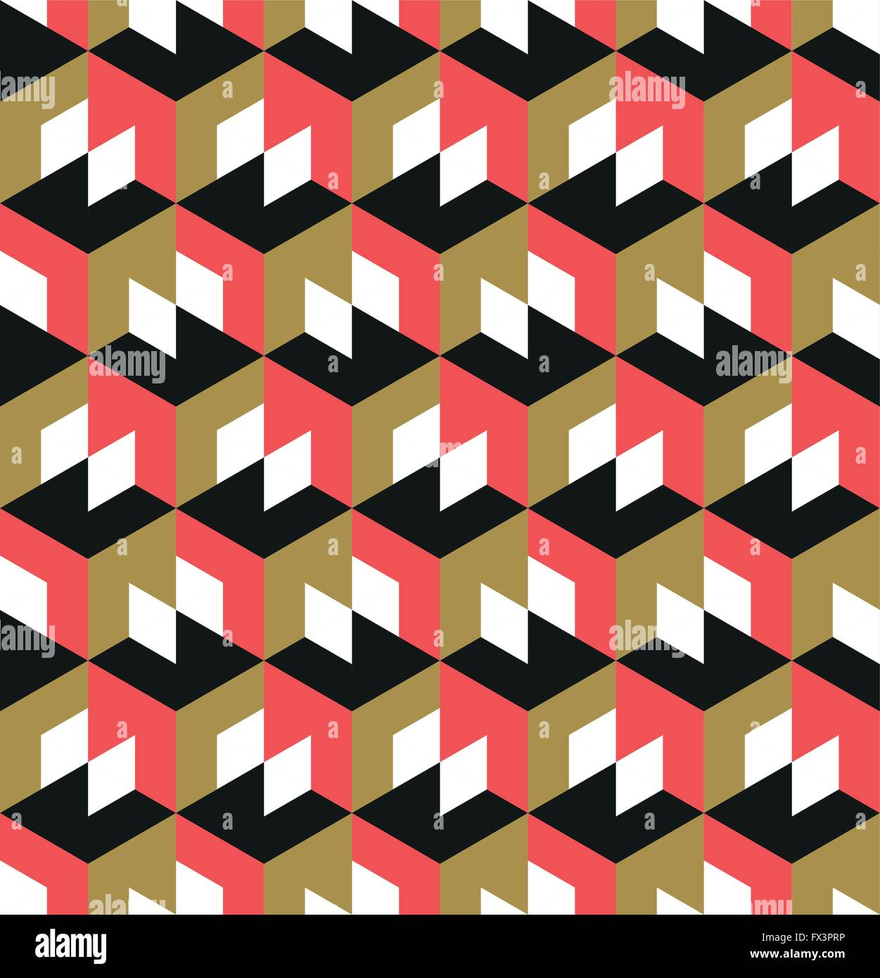 Seamless Geometric Pattern. Abstract geometric background design. Vector illustration. - Stock Image
