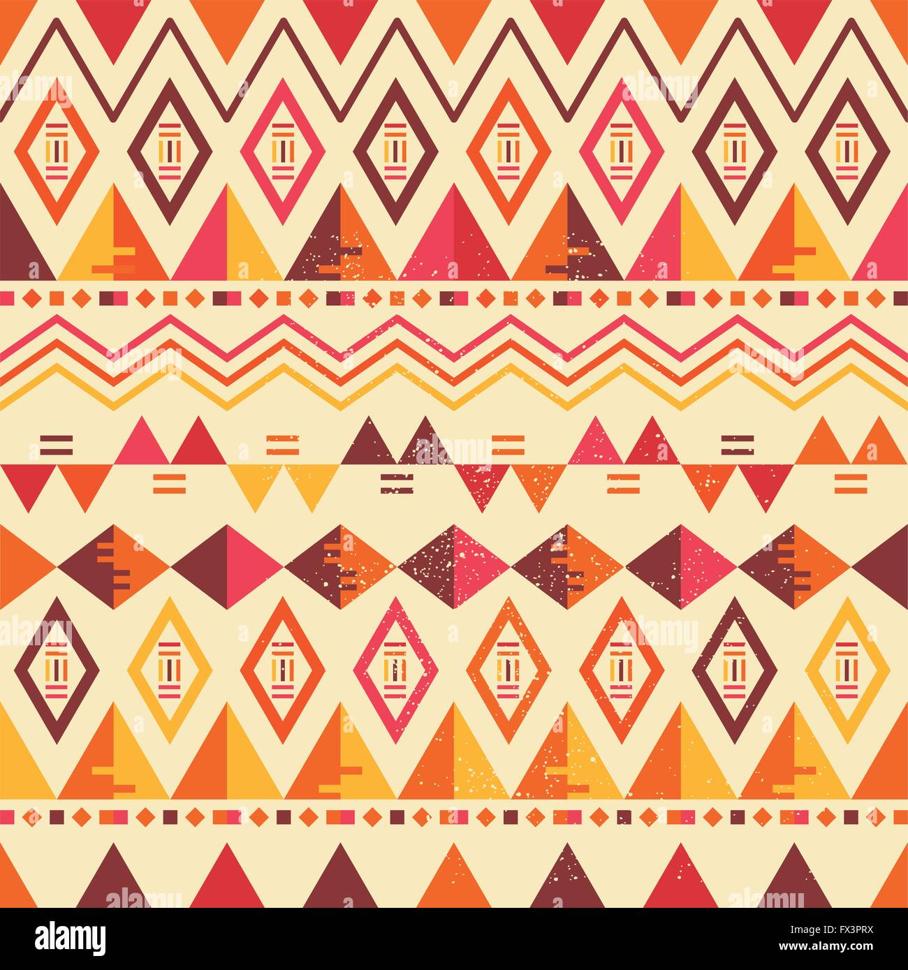 Seamless Vector Geometric Pattern. Repeat pattern vector illustration. - Stock Image