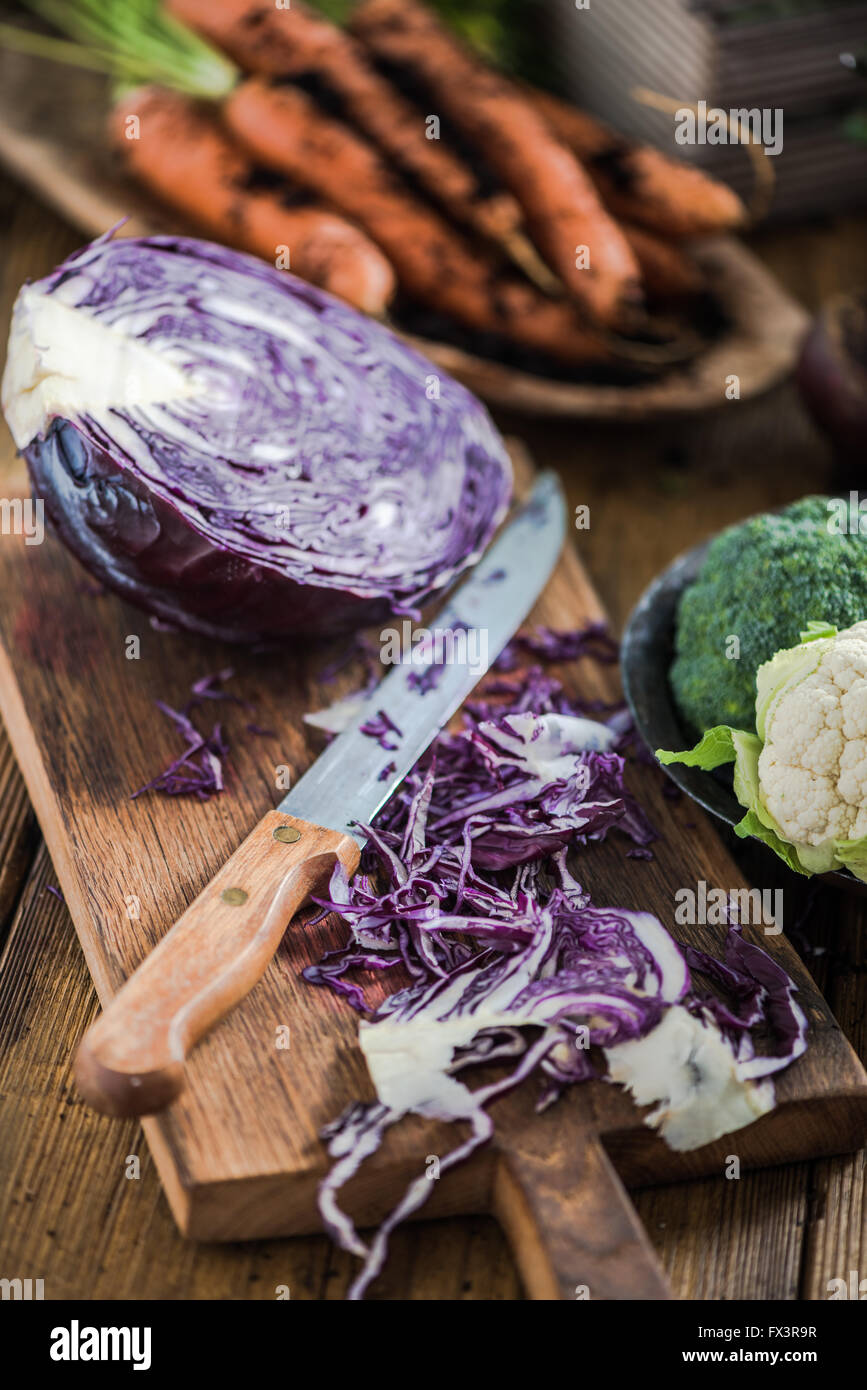 Farm fresh vegetables from local market in suuny  kitchen. Negative space for text. - Stock Image