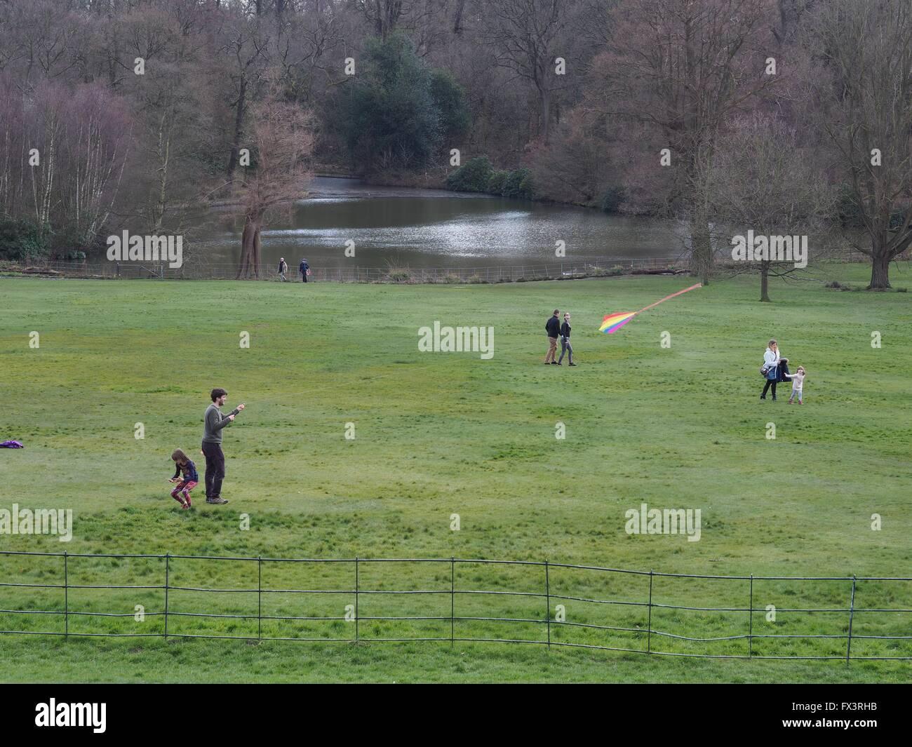 park, parks, Kenwood House, Hampstead, West Hampstead, Park, parks, family - Stock Image