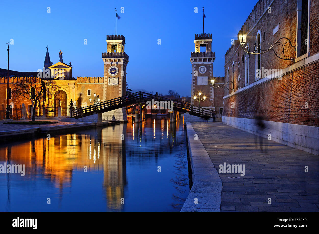 The Arsenale (shipyards), Sestiere di Castello, Venezia (Venice), Italy. - Stock Image
