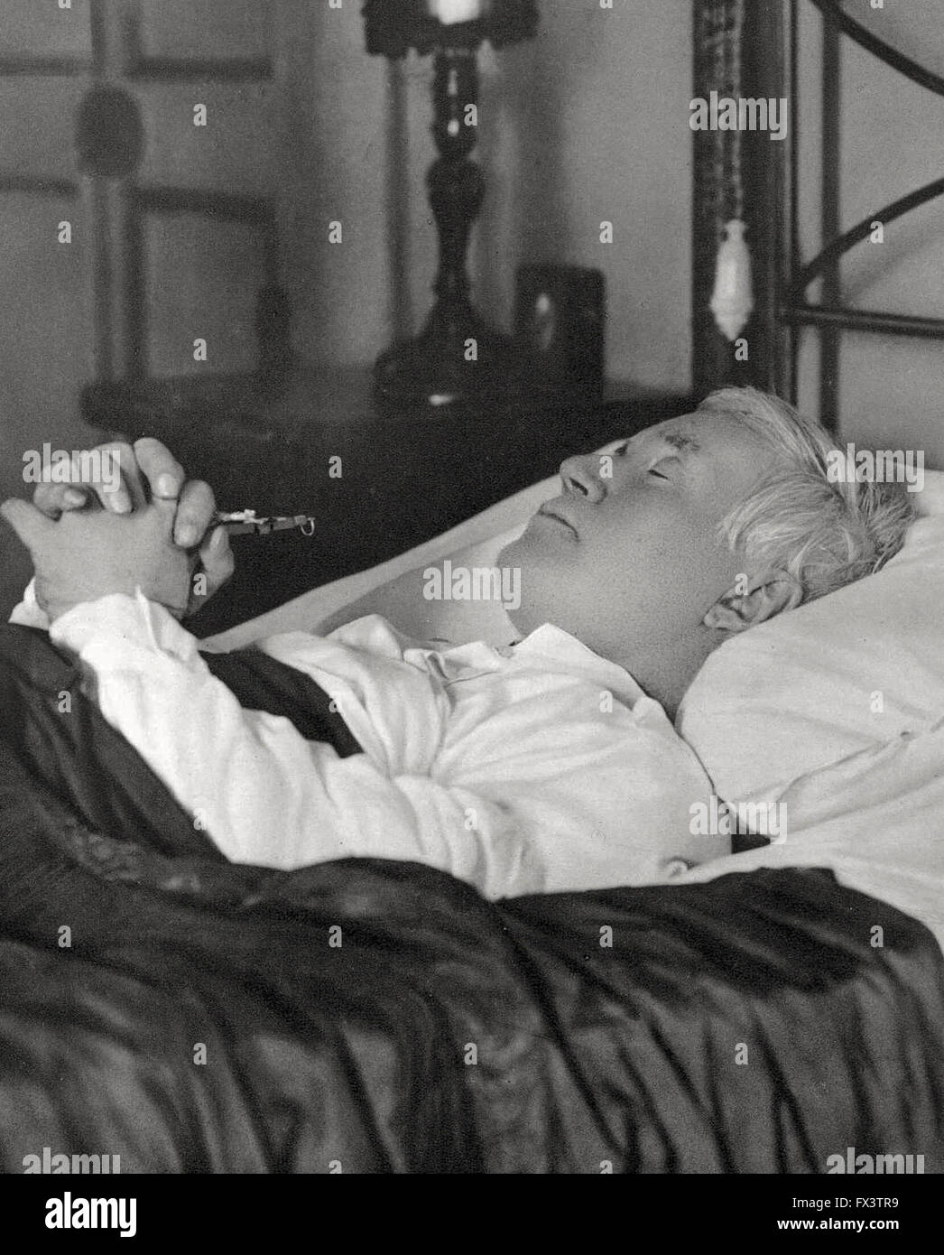 Photo of Pope Pius X at his deathbed August 20, 1914 - Stock Image