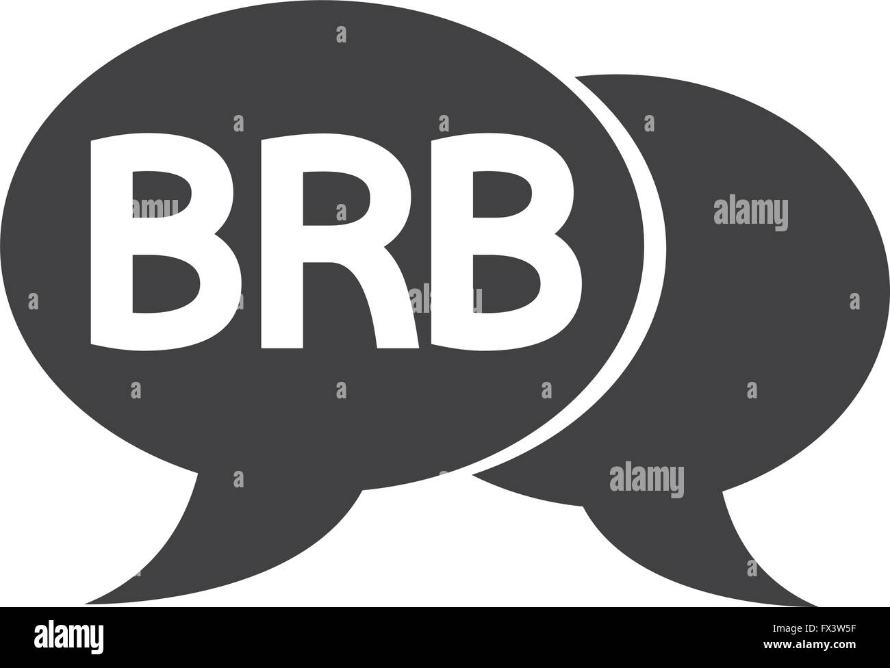 internet acronym chat bubble illustration - Stock Vector